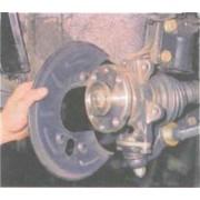 Кожух переднего тормозного диска - замена